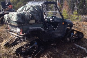 UTV with tracks rental