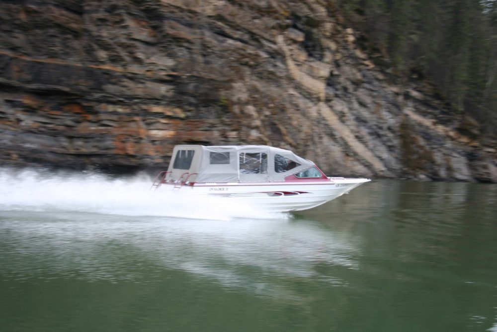 Boating in the Tumbler Ridge Global Geopark